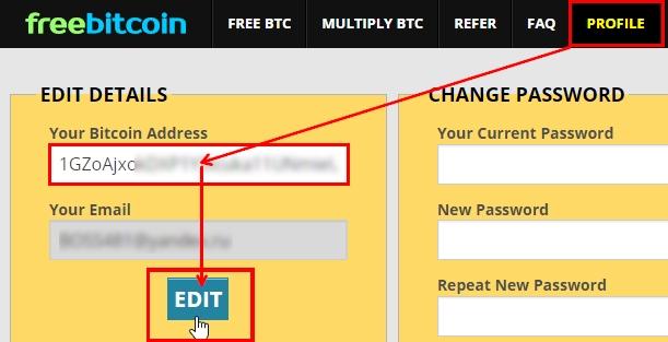 смена биткоин кошелька в freebitcoin