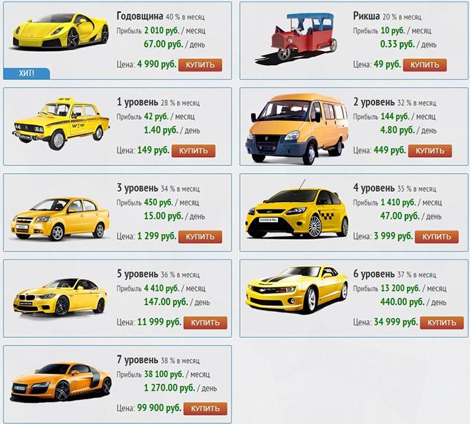 машинки Taxi Money