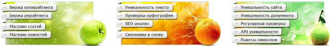проверка уникальность онлайн на text ru