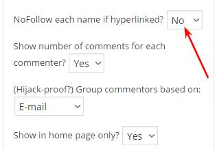 индексирование ссылок комментаторов