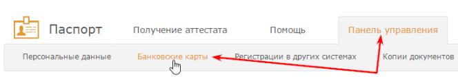 панель управления-банковские карты вебмани