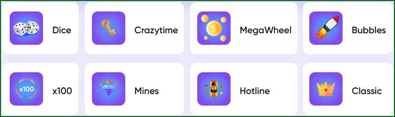 режимы мини игр на реальные деньги на trix