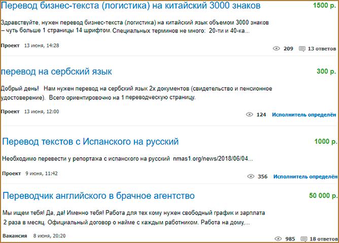 Заработок на переводе текстов с одного языка на другой
