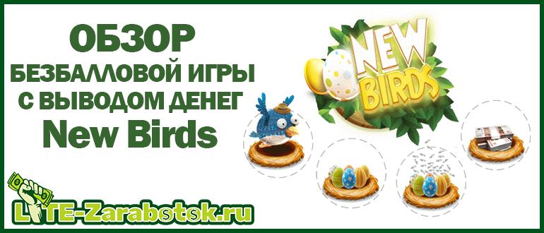 New Birds — обзор игры без баллов с заработком денег на яйцах птичек
