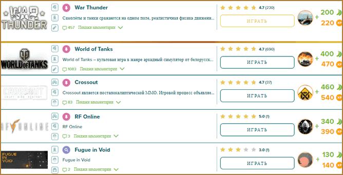 сайт на котором можно заработать игровую валюту выполняя задания