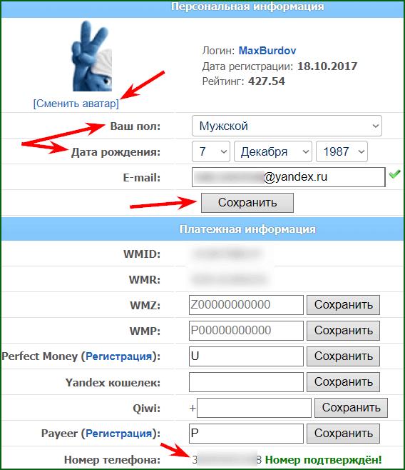 настройка и верификация аккаунта ВМРФаст
