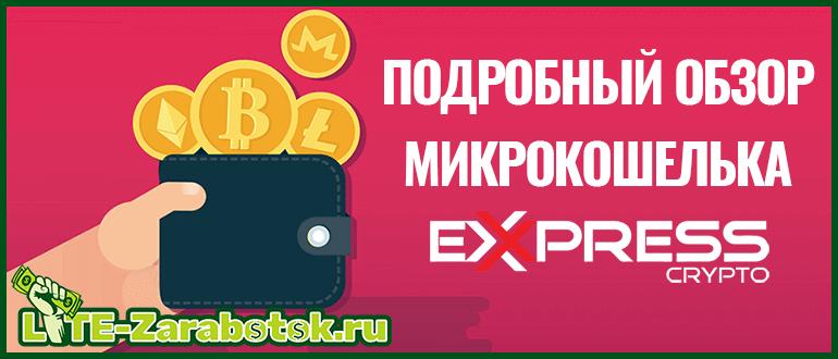 подробный обзор микрокошелька Express Crypto