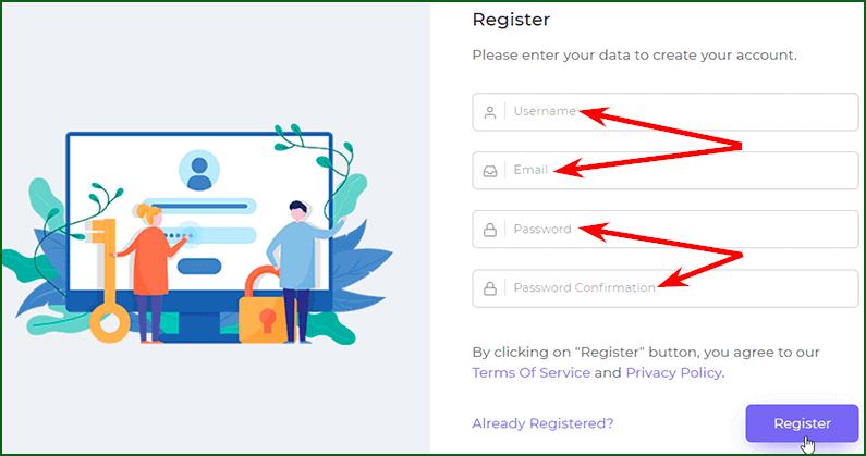 регистрация на мультивалютном кране Faucet Crypto шаг 2