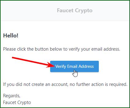 регистрация на мультивалютном кране Faucet Crypto шаг 3