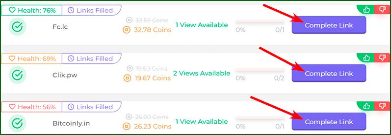 заработок криптовалюты на коротких ссылках на кране Faucet Crypto