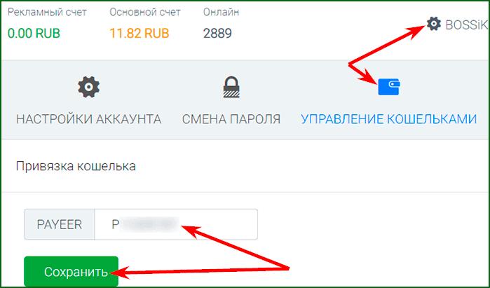 привязка кошелька к аккаунту на ProfitSurf