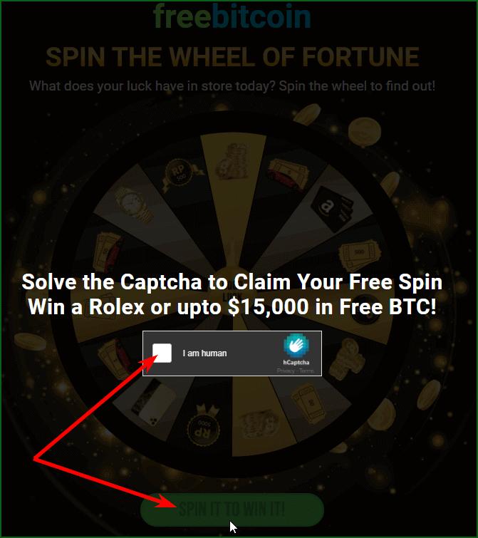 вращение колеса фортуны на freebitcoin