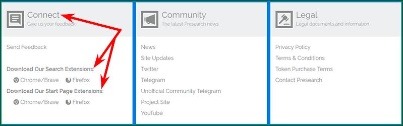 установка расширения Presearch шаг 1