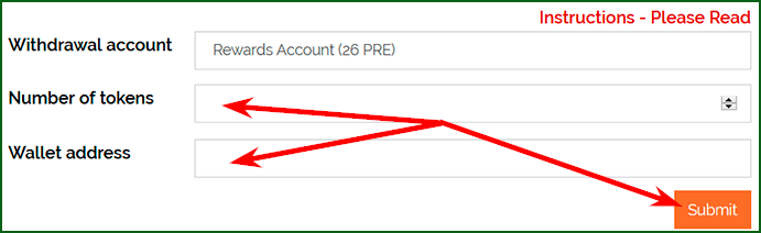 вывод денег с Presearch
