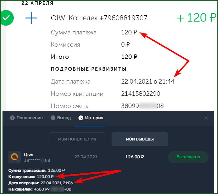 моя недавняя выплата с Play2x
