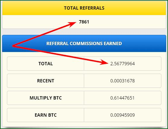 партнерский доход на Freebitco in