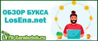 LosEna net - новейший букс с простейшими способами для заработка денег в интернете